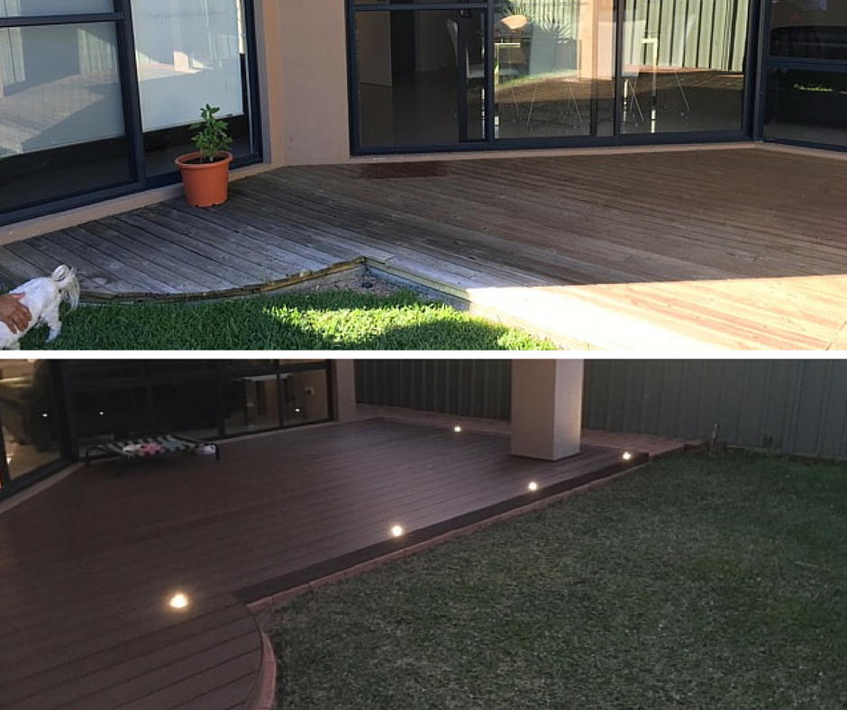 Decking renovation #2 - Before & After