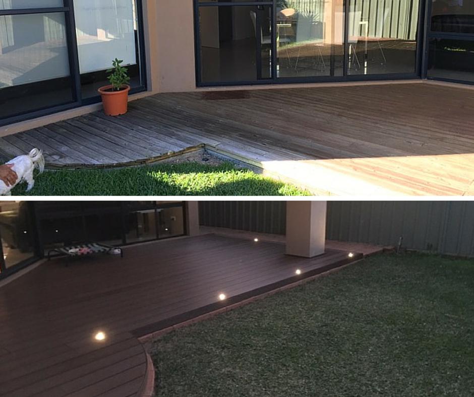 Decking renovation #2 - Before & After