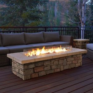 Firepit Table outdoor setting