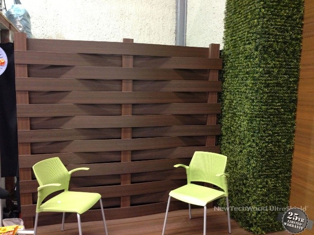 composite timber slat fencing, fancy