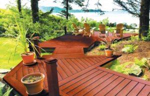 angled decking