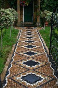 Pebbled pathway