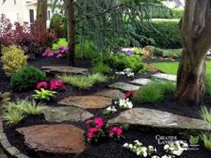 garden paths. This is a stone walkway.