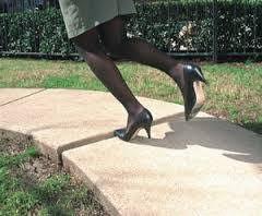 Avoid dangerous garden paths and walkways. Trip hazard.