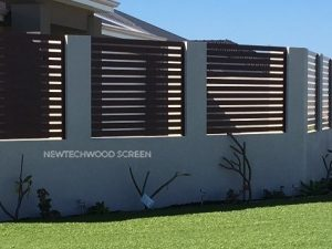 screening with NewTechWood timber