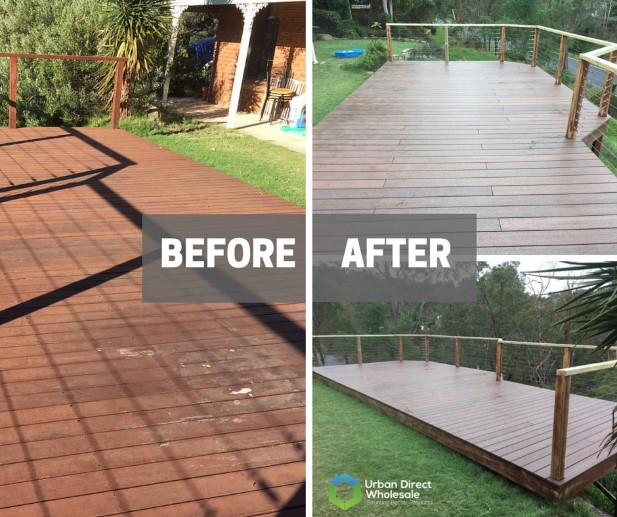 before and after composite paving
