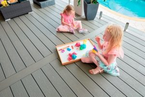 kids playing on composite deck