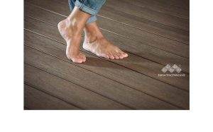 bare feet on timber decking, new tech wood