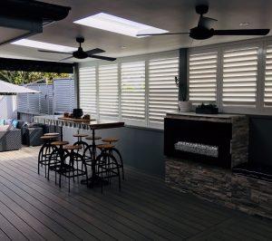 composite NewTechWood decking, outdoor room