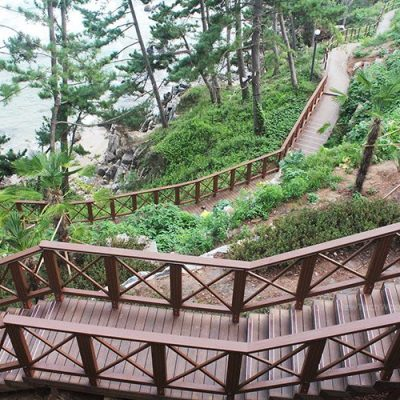Decking stairs in Ipe – Korea