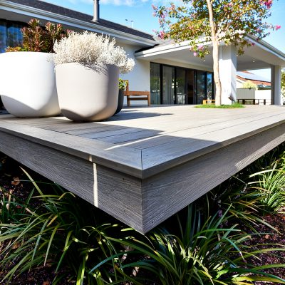 NewTechWood decking - Antique - Webb Brown Neaves display Home, Perth
