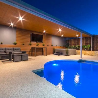 Wall and ceiling cladding in Teak – Perth, WA