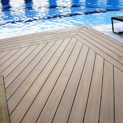 Pool decking in Antique