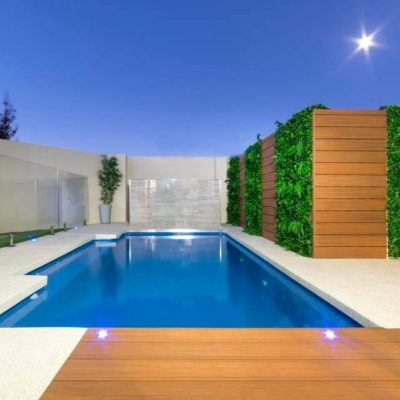 Pool decking and wall cladding in Teak – Perth, WA