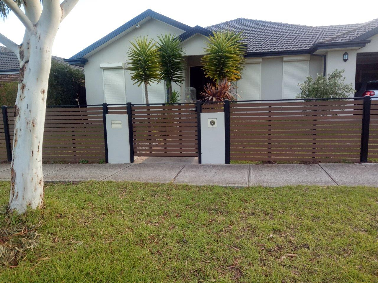 Newtechwood no maintenance front fence Melbourne