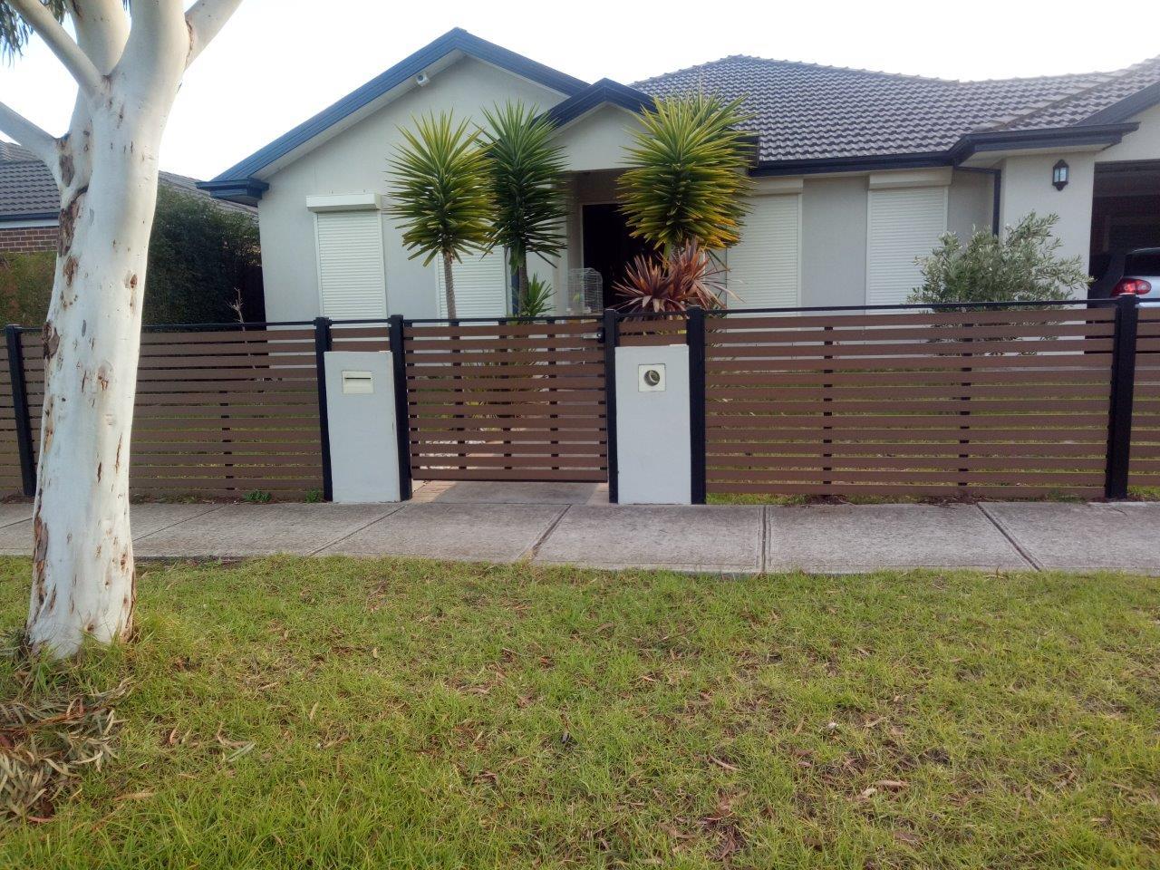 Newtechwood no maintenance front fence Melbourne