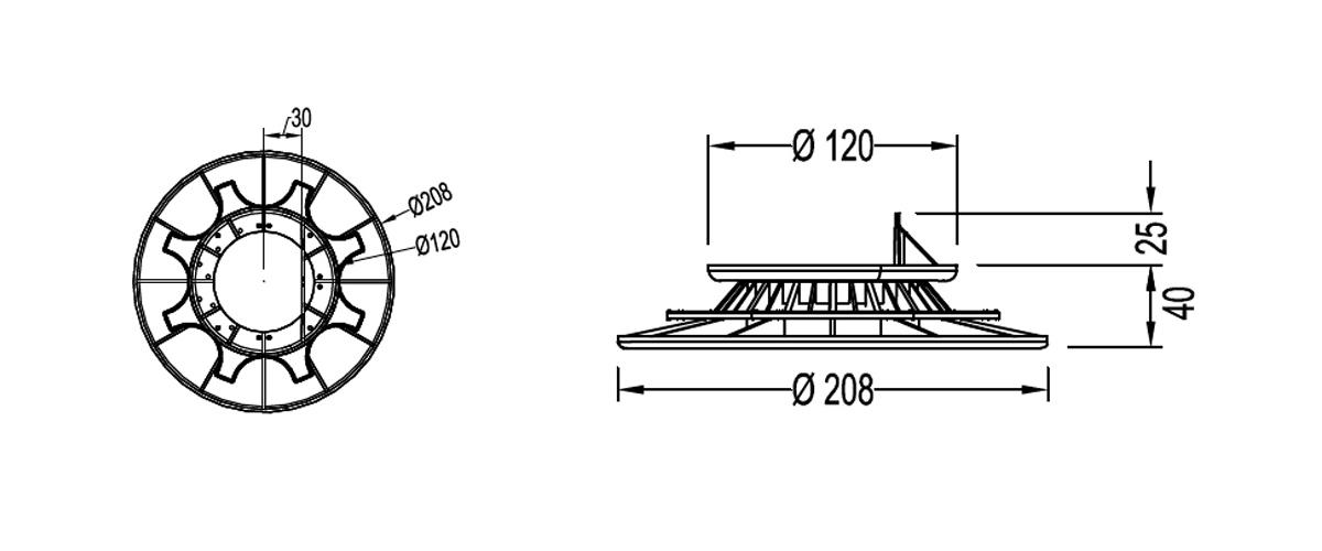 Nivo Pedestal PLO009 Diagram