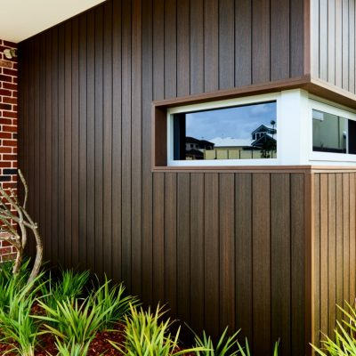 "NewTechWood Wall Cladding ""Walnut"", Karrinyup, W.A."