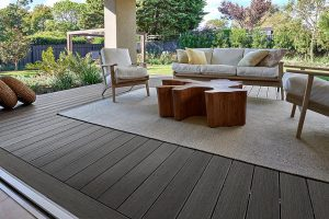NewTechWood Terrace Range Silver Grey composite decking at a home in Tasmania