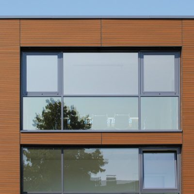 NewTechWood Castellation Cladding Closeup Commercial Building