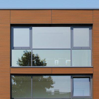 NewTechWood Castellation Cladding Closeup Commercial Building