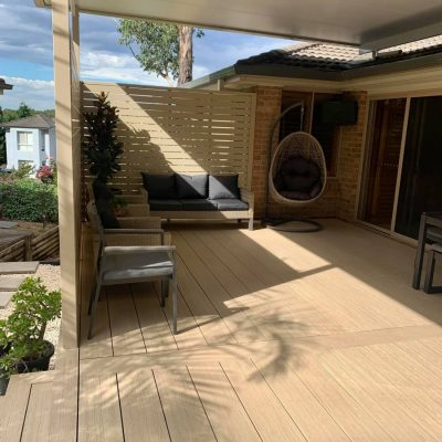 "NewTechWood Coastal Wide Board decking – ""Beech"""