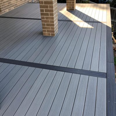 NewTechWood Decking – Antique & Silver Grey borders