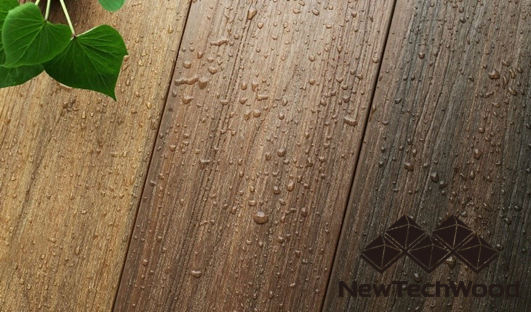 Prepare your decking for winter - rain drops on deck