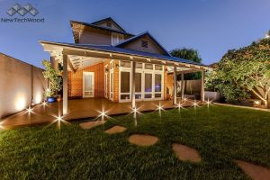 Owlia LED Deck Lights at a home in Perth
