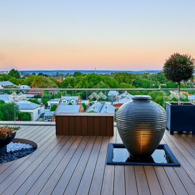Rooftop deck in Teak, Perth, WA