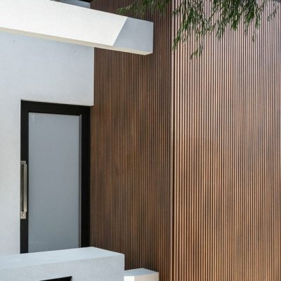 NewtechWood Castellation Cladding in Ipe, Scarborough project, Perth, WA