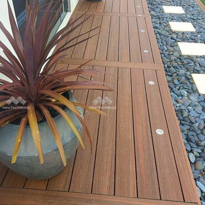 Composite Decking in Teak and LED Lights, Perth, WA