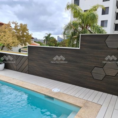 Castellation Cladding used as feature wall, Aged Wood, Floreat, Perth WA